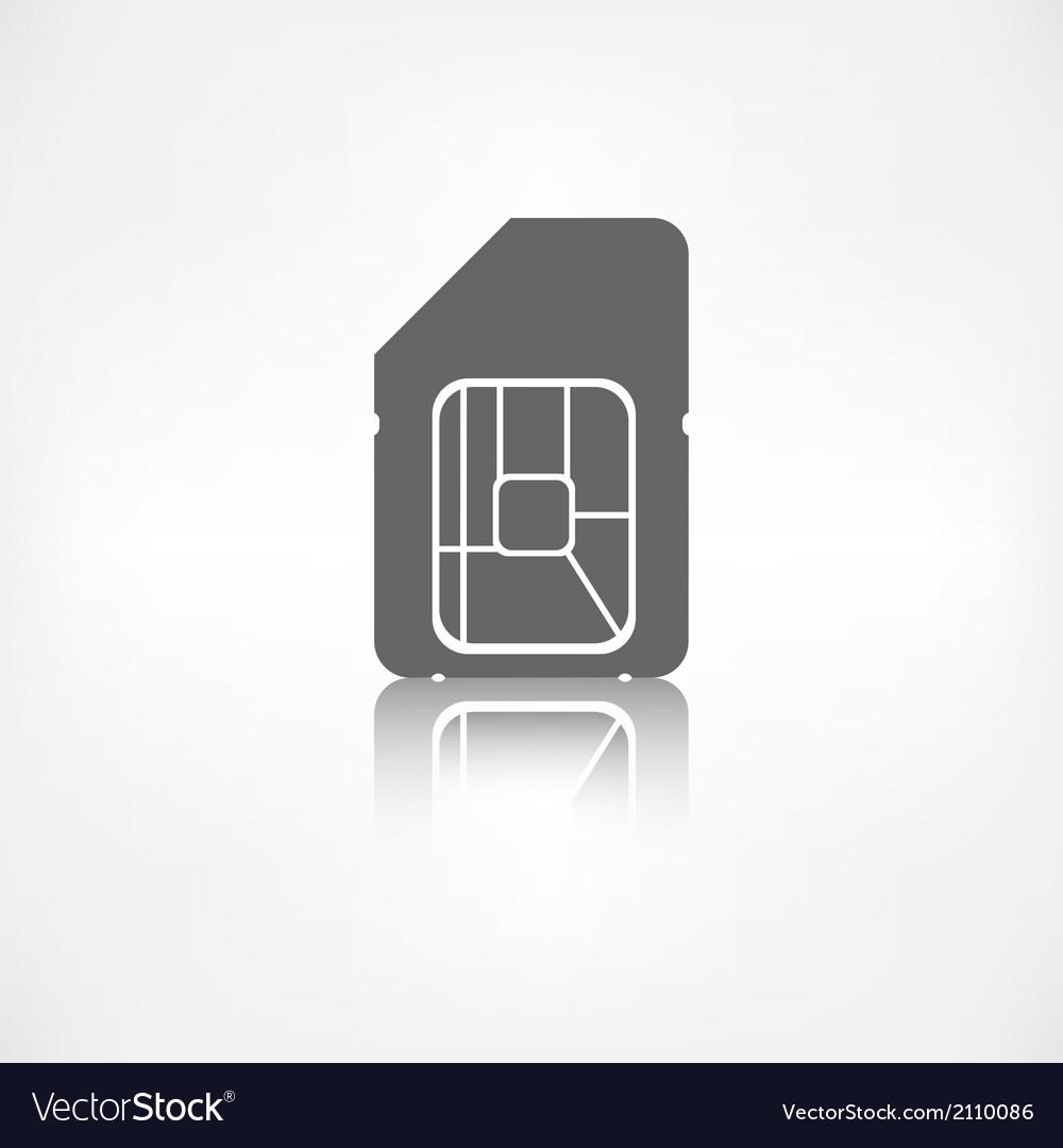 Sim card web icon vector | Price: 1 Credit (USD $1)