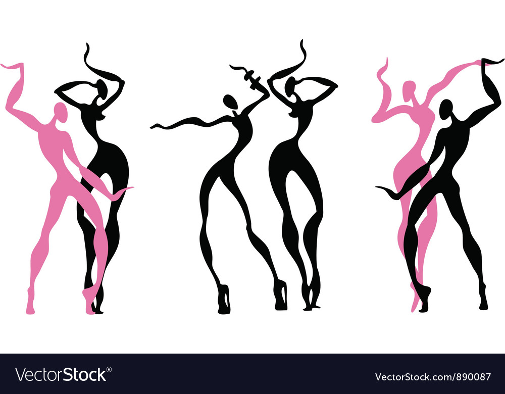 Abstract dancing figures vector | Price: 1 Credit (USD $1)