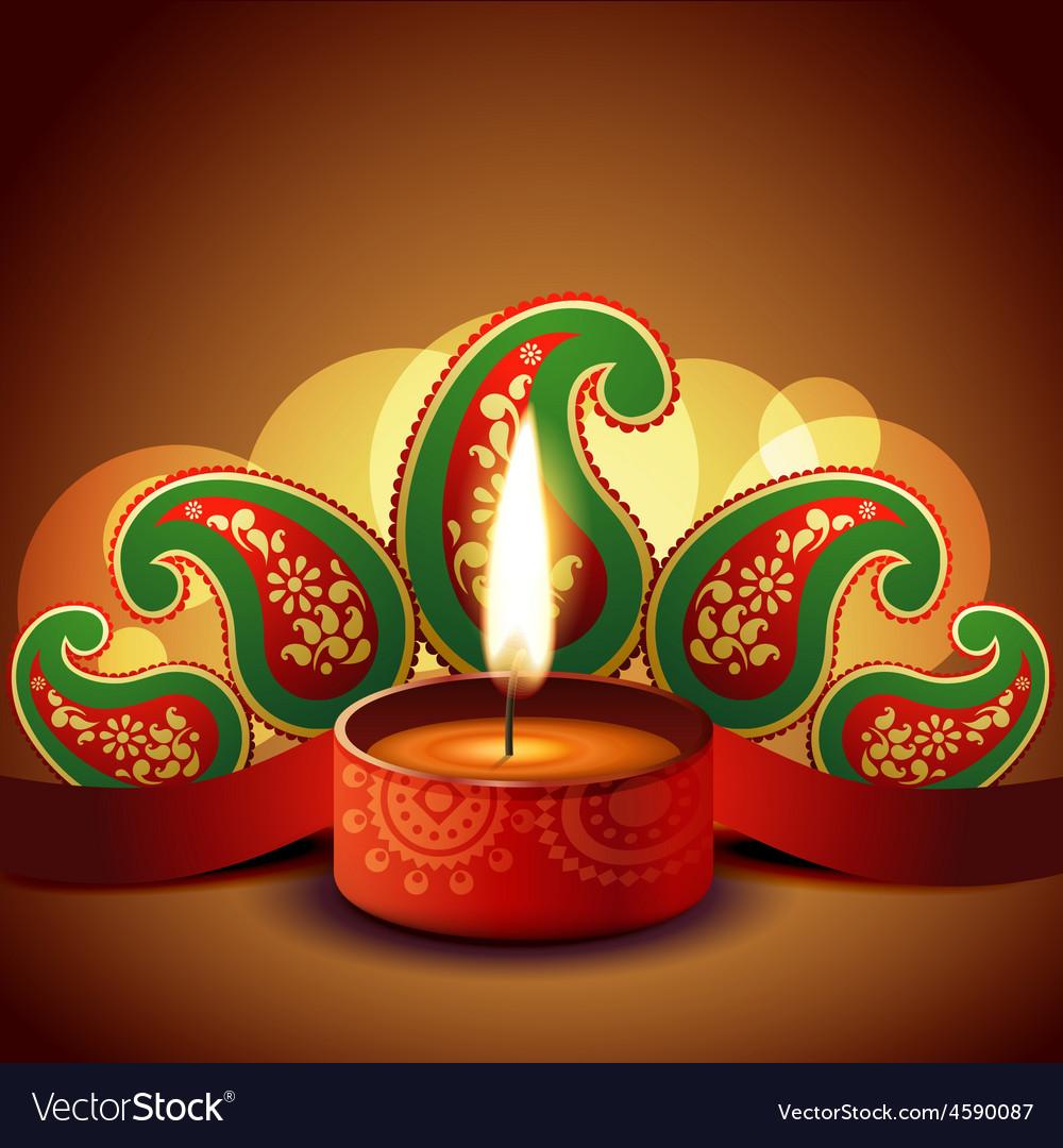 Beautiful diwali background vector | Price: 1 Credit (USD $1)