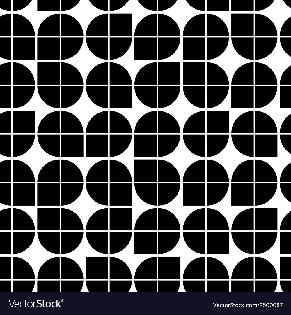 Black and white abstract geometric seamless vector | Price: 1 Credit (USD $1)