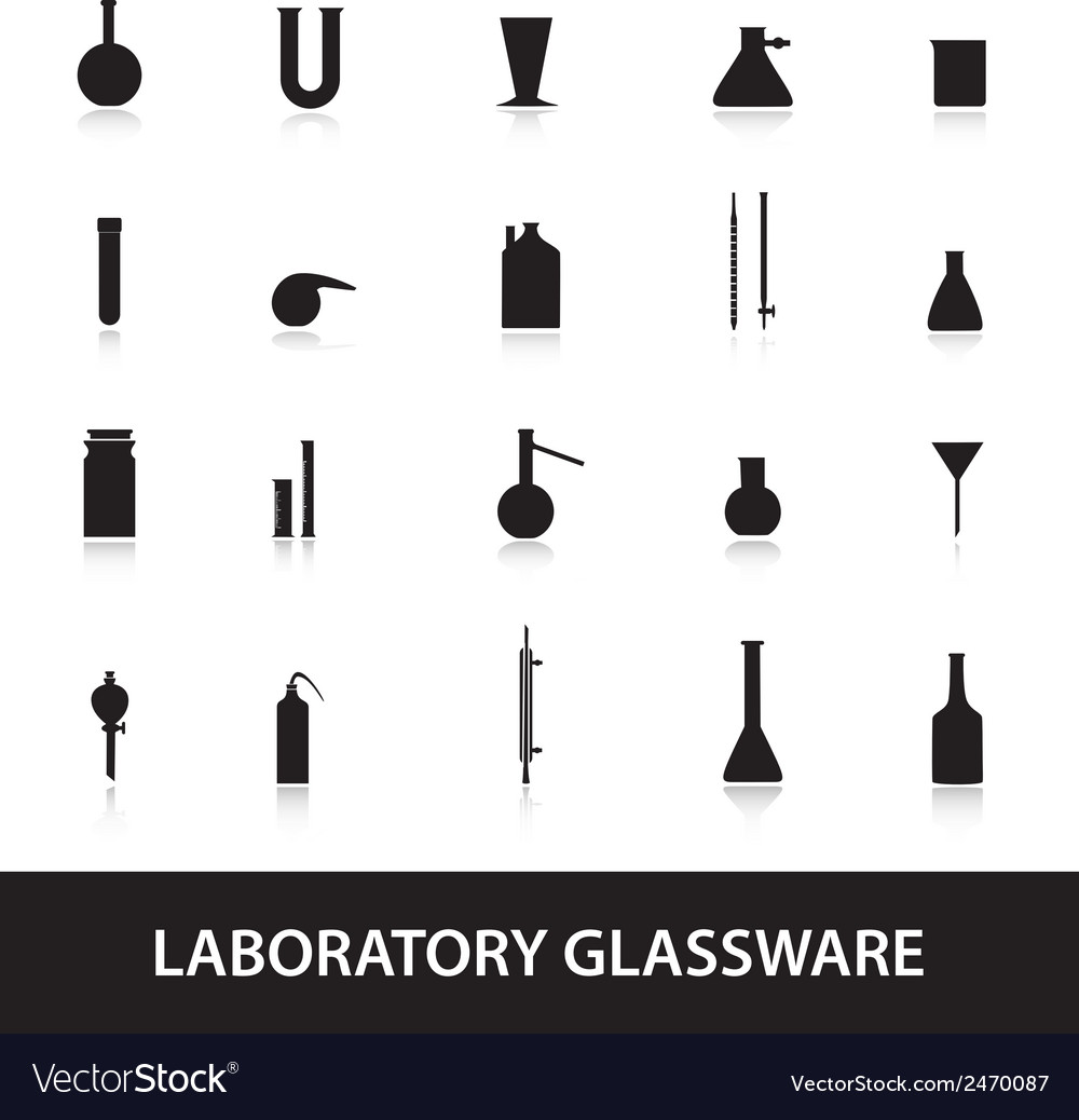 Chemistry laboratory glassware eps10 vector | Price: 1 Credit (USD $1)