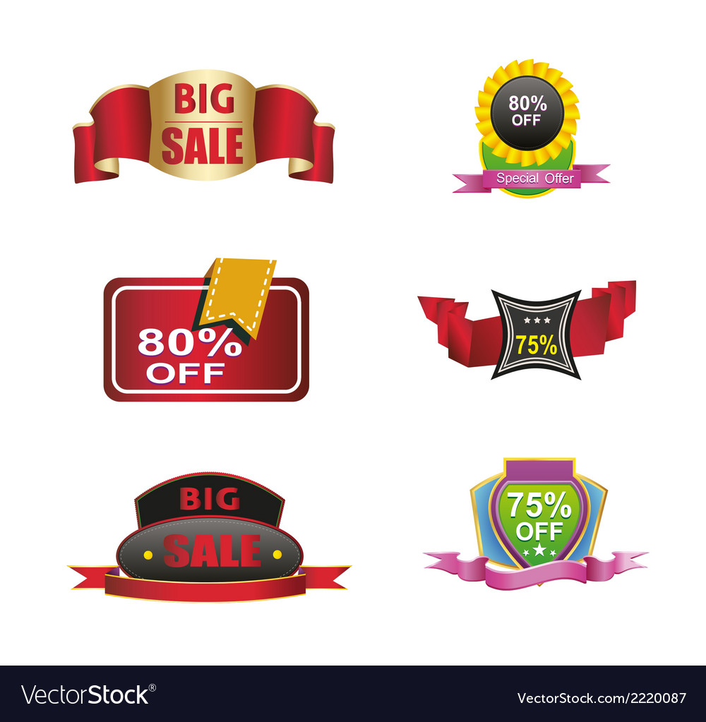Colection-sales-off-discount-icon-logo- vector | Price: 1 Credit (USD $1)