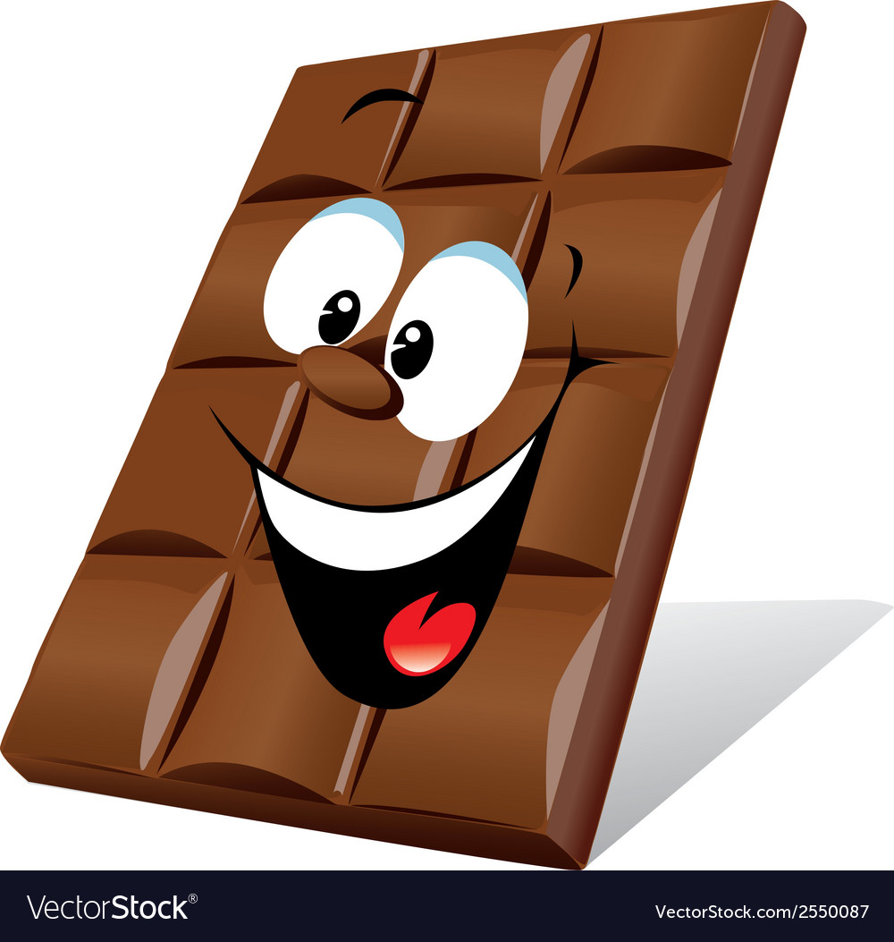 Happy chocolate vector | Price: 1 Credit (USD $1)