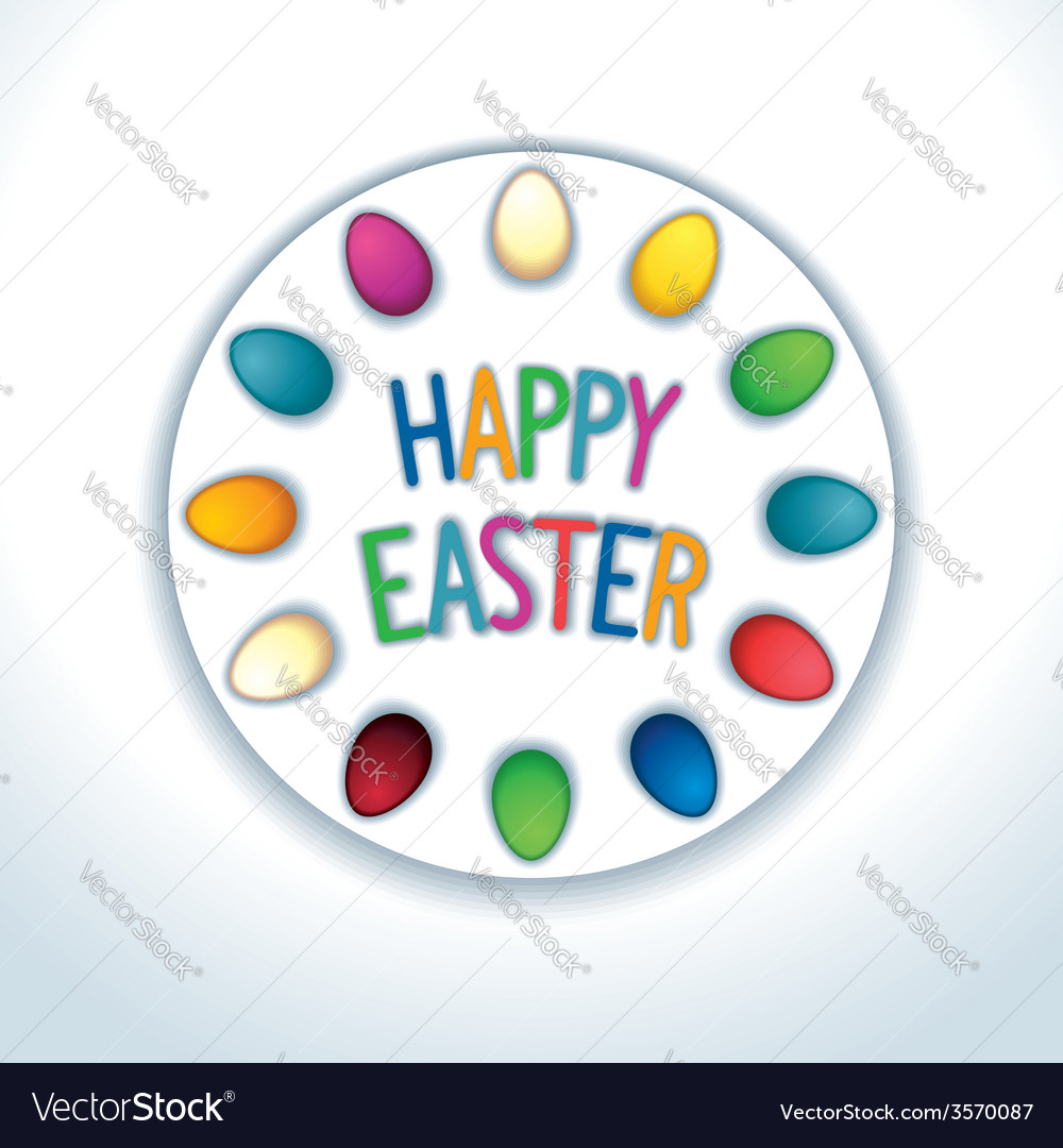Happy easter sticker vector | Price: 1 Credit (USD $1)