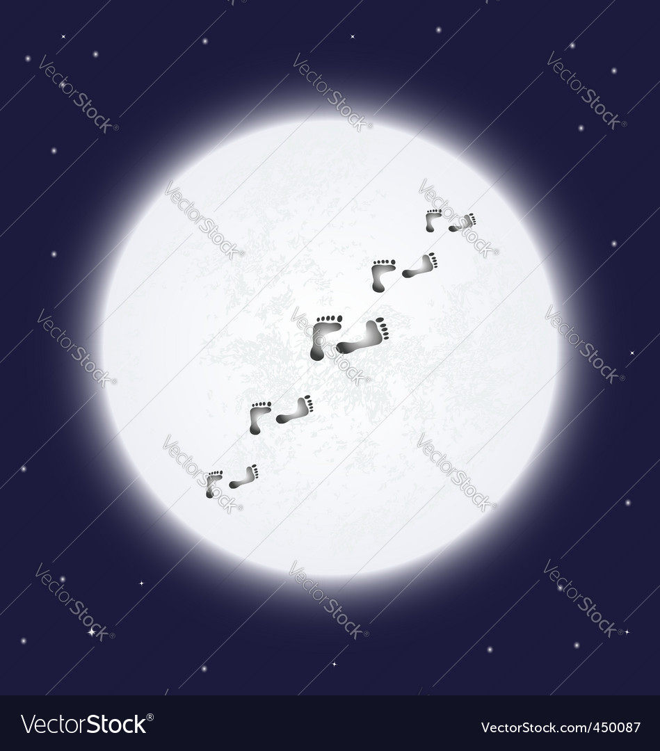 Moon and trace vector | Price: 1 Credit (USD $1)