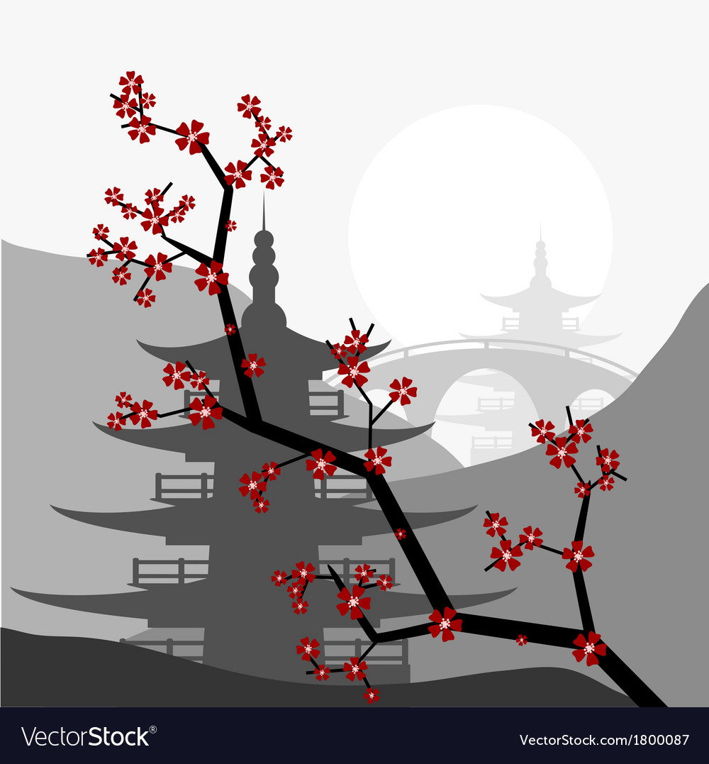 Pagoda vector | Price: 1 Credit (USD $1)