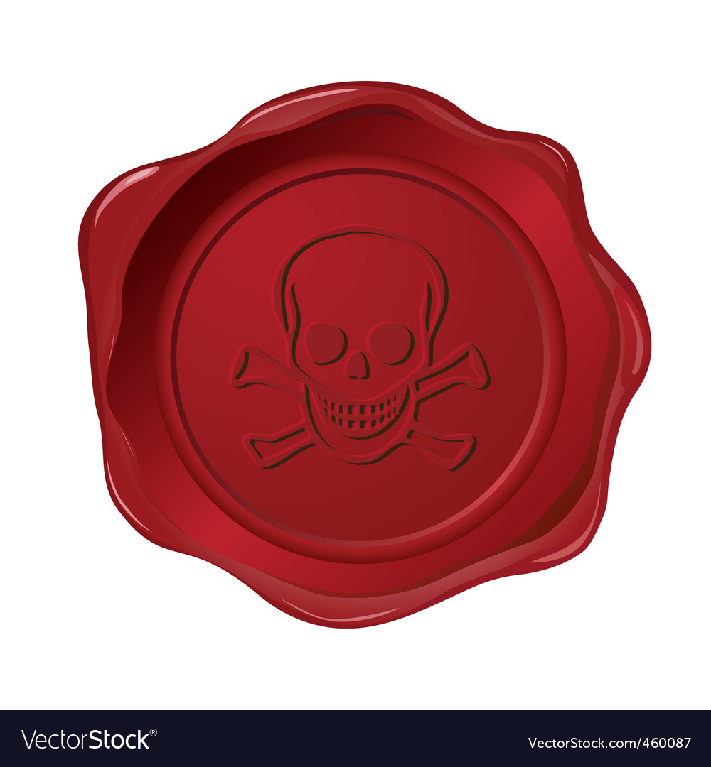 Red seal on white vector | Price: 1 Credit (USD $1)