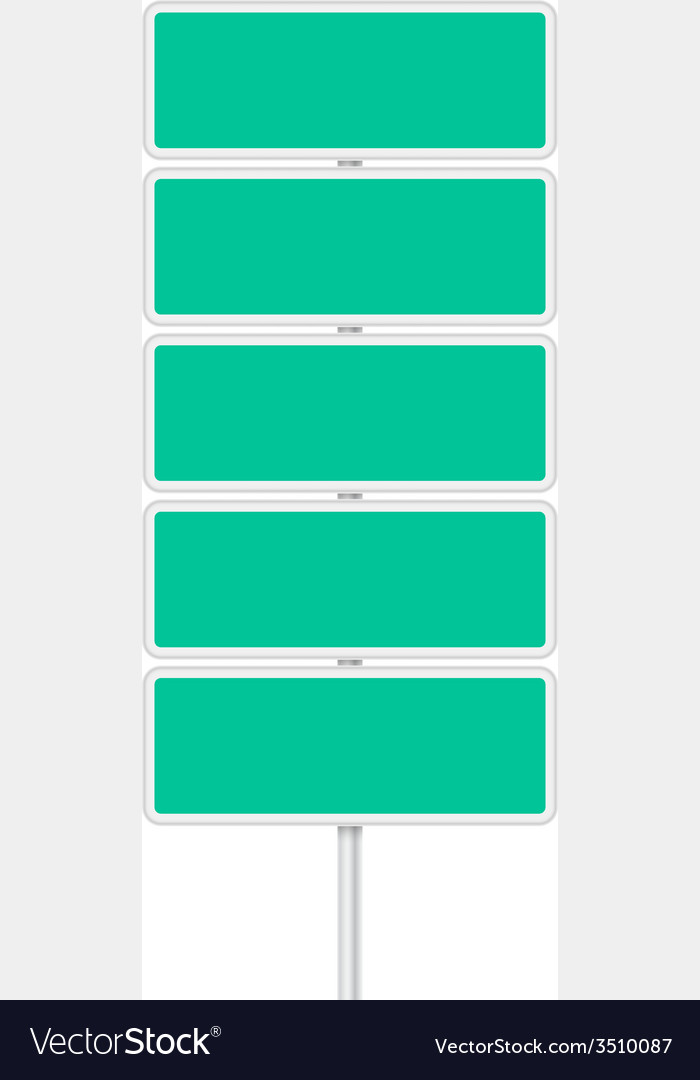 Set of signpost vector   Price: 1 Credit (USD $1)