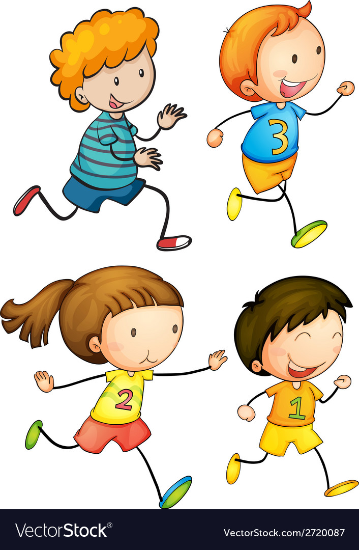 Simple kids running vector | Price: 1 Credit (USD $1)