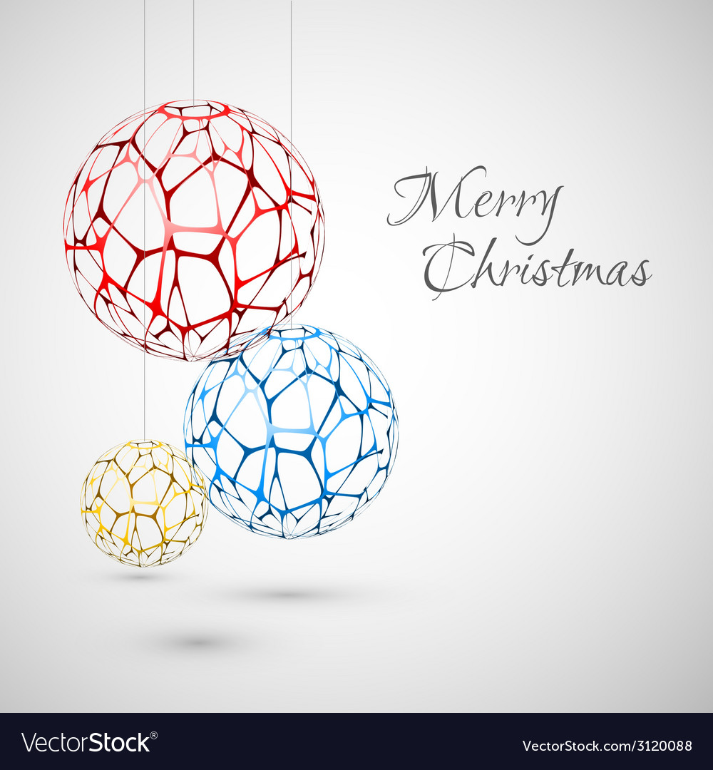 Abstract christmas decorations vector | Price: 1 Credit (USD $1)