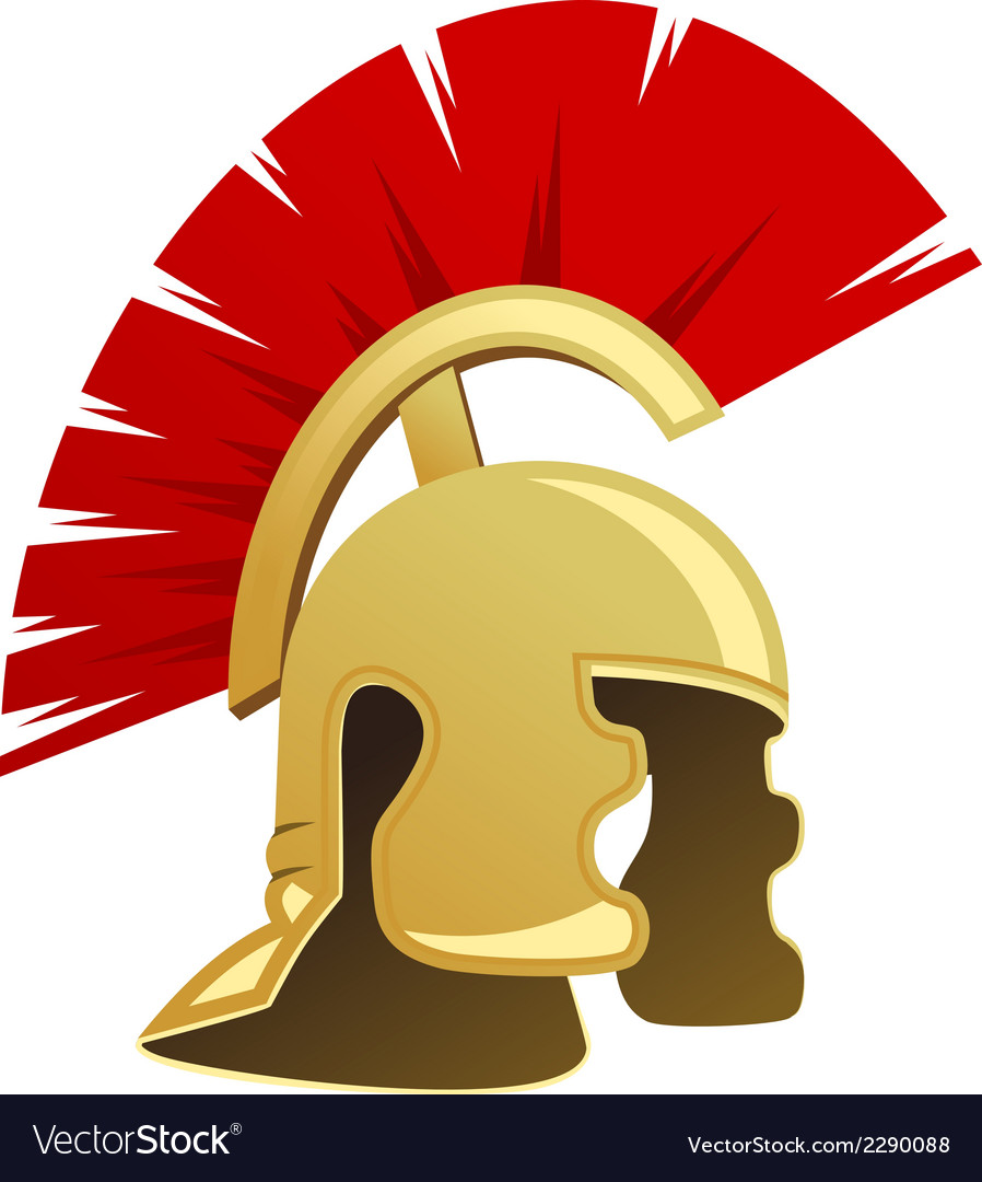 Ancient warrior helmet vector | Price: 1 Credit (USD $1)