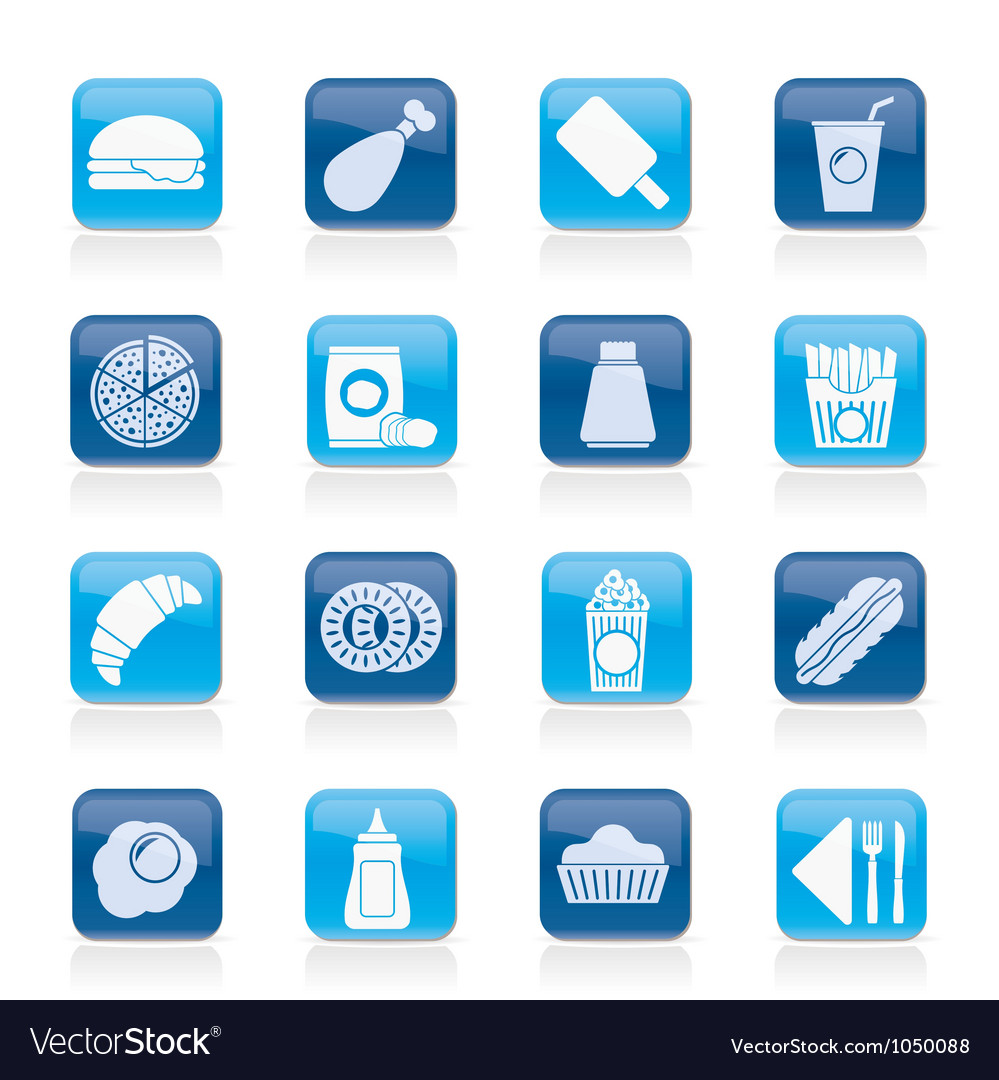 Fast food and drink icons vector | Price: 1 Credit (USD $1)