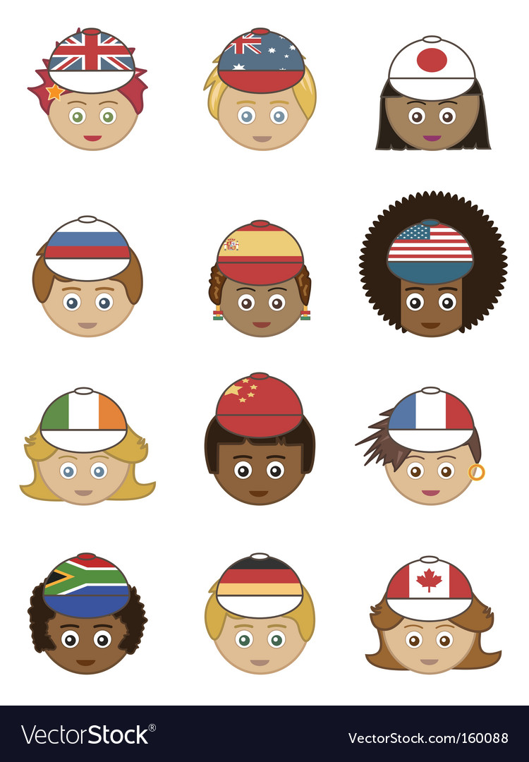 Flag hats vector | Price: 1 Credit (USD $1)