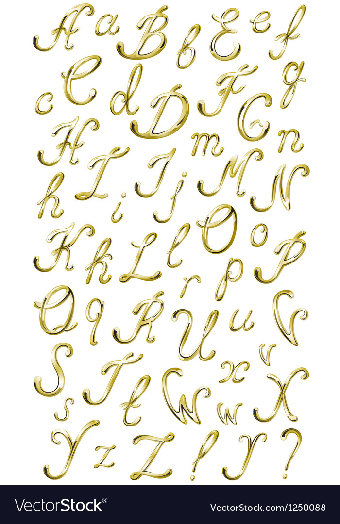 Gold alphabet with diamonds and gems letters yz vector | Price: 1 Credit (USD $1)
