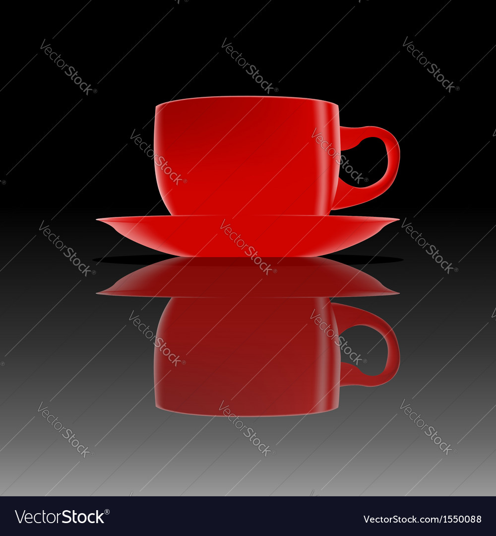 Red cup on a smooth surface vector | Price: 1 Credit (USD $1)