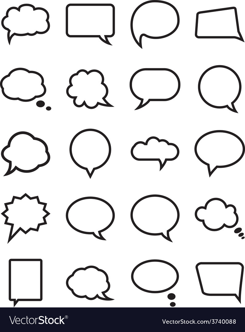 Speech bubble collection vector | Price: 1 Credit (USD $1)