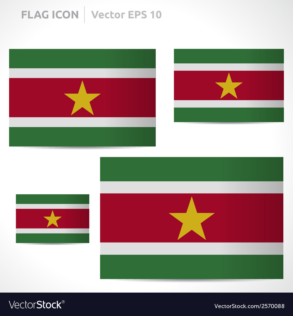 Suriname flag template vector | Price: 1 Credit (USD $1)