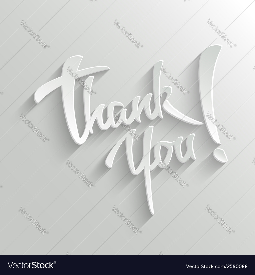 Thank you lettering greeting card vector | Price: 1 Credit (USD $1)
