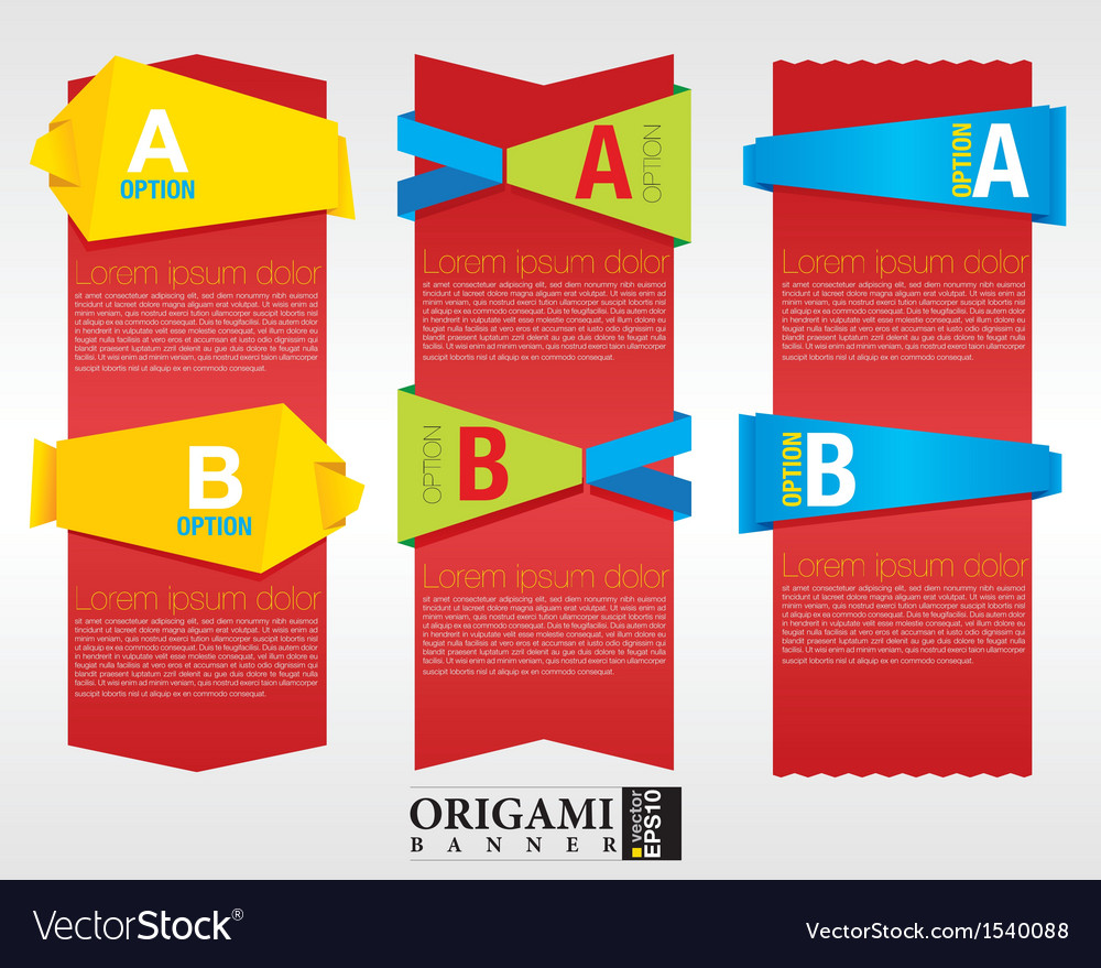 Vertical origami banner eps 10 vector | Price: 1 Credit (USD $1)