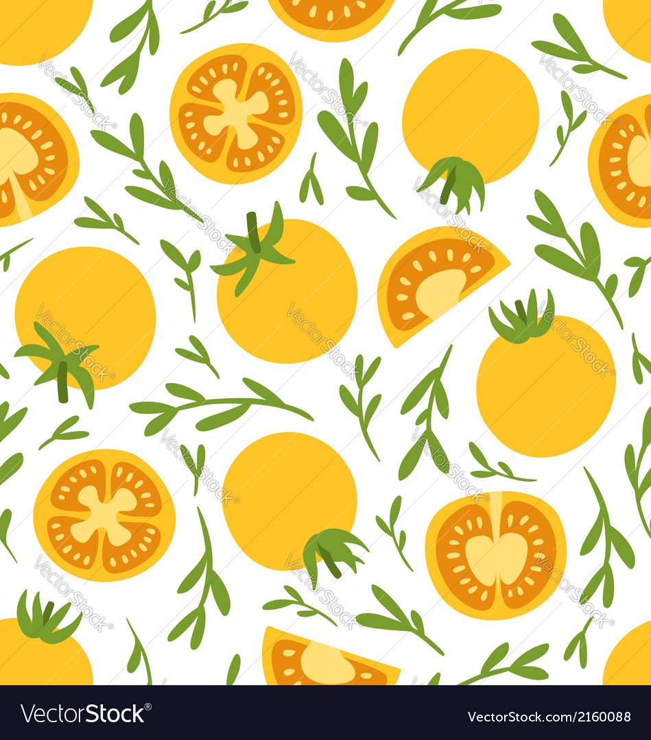 Yellow tomatoes pattern vector | Price: 1 Credit (USD $1)