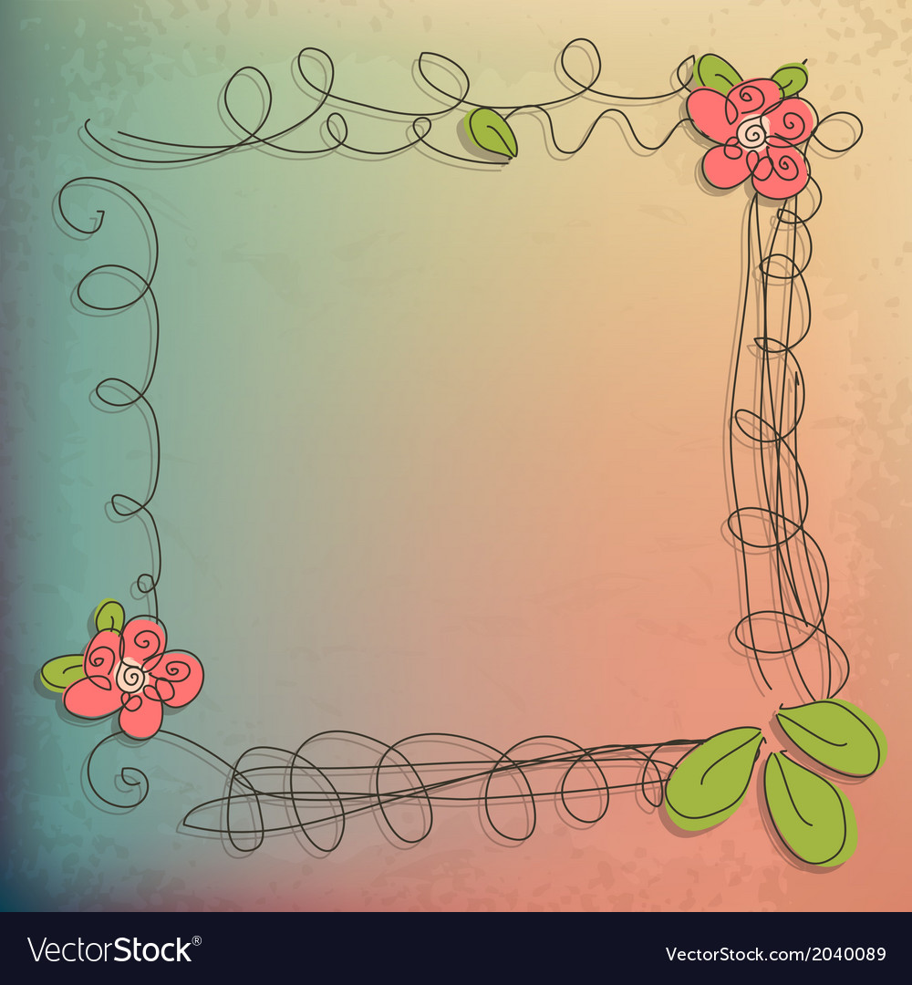 Abstract doodle flower with your text  eps 10 vector | Price: 1 Credit (USD $1)