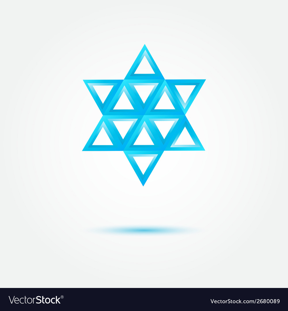 Abstract jewish star made by triangles - symbol vector | Price: 1 Credit (USD $1)