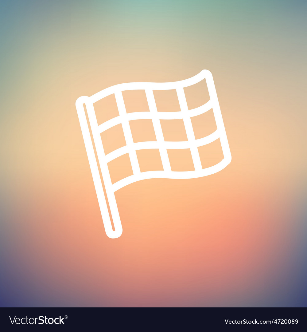Chekered flag for racing thin line icon vector   Price: 1 Credit (USD $1)