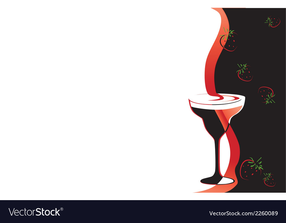 Cocktail glass black and red vector | Price: 1 Credit (USD $1)