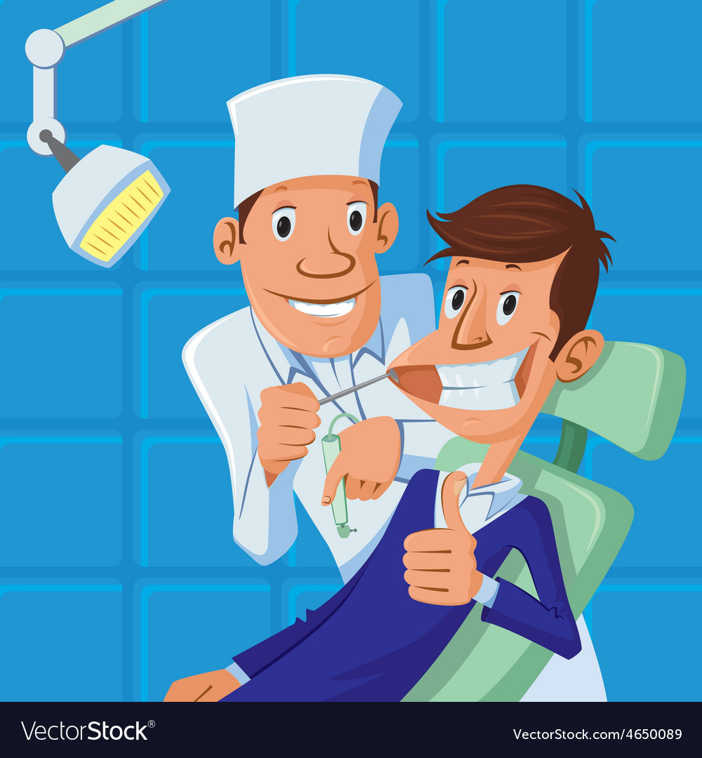 Dentist and patient vector   Price: 1 Credit (USD $1)