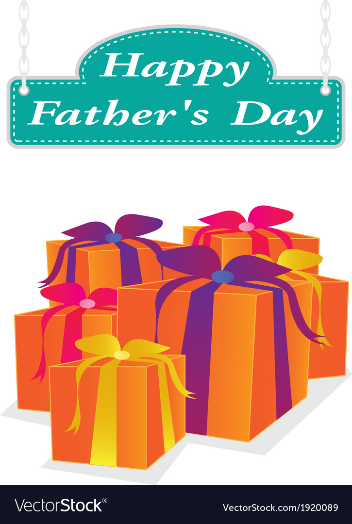 Father day label vector | Price: 1 Credit (USD $1)