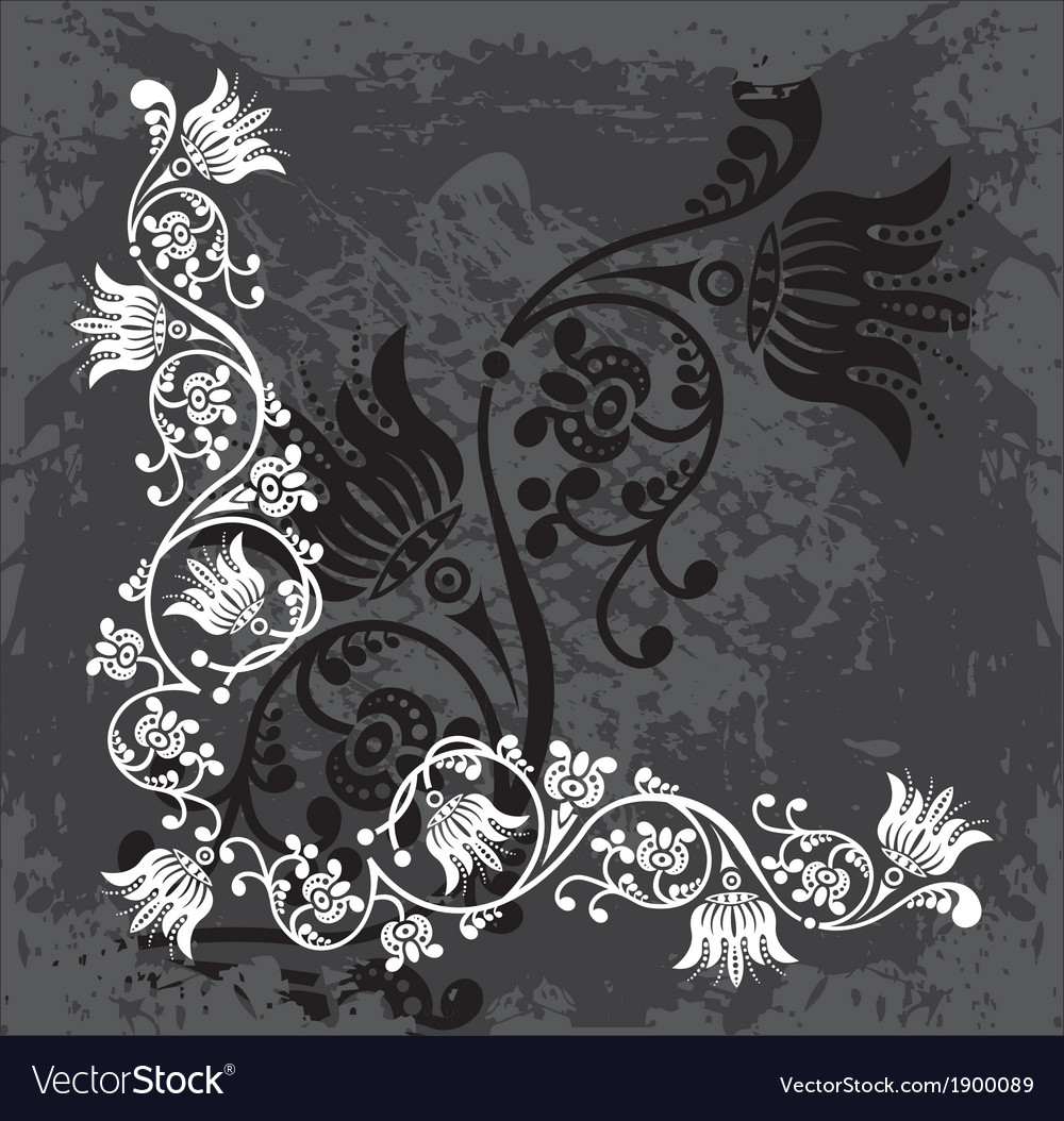 Original floral corner vector | Price: 1 Credit (USD $1)