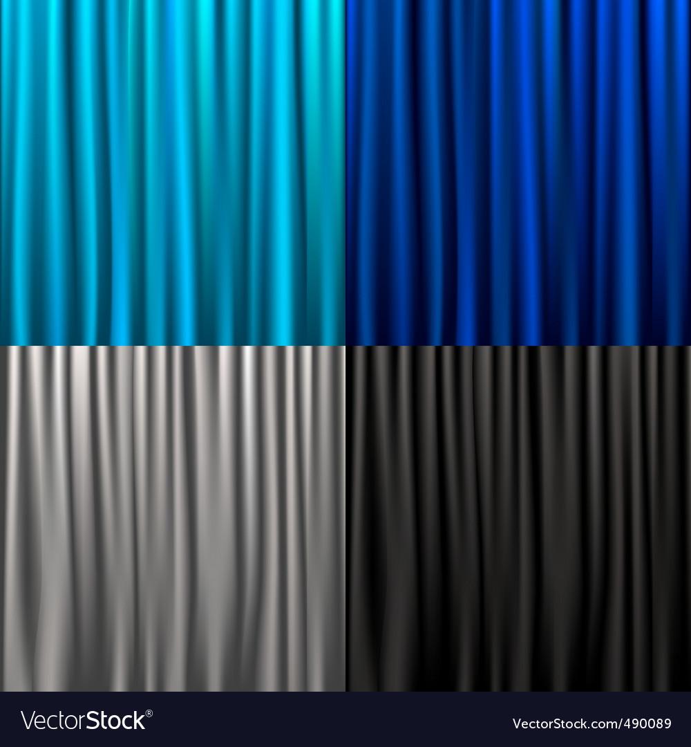Silk curtains vector | Price: 1 Credit (USD $1)