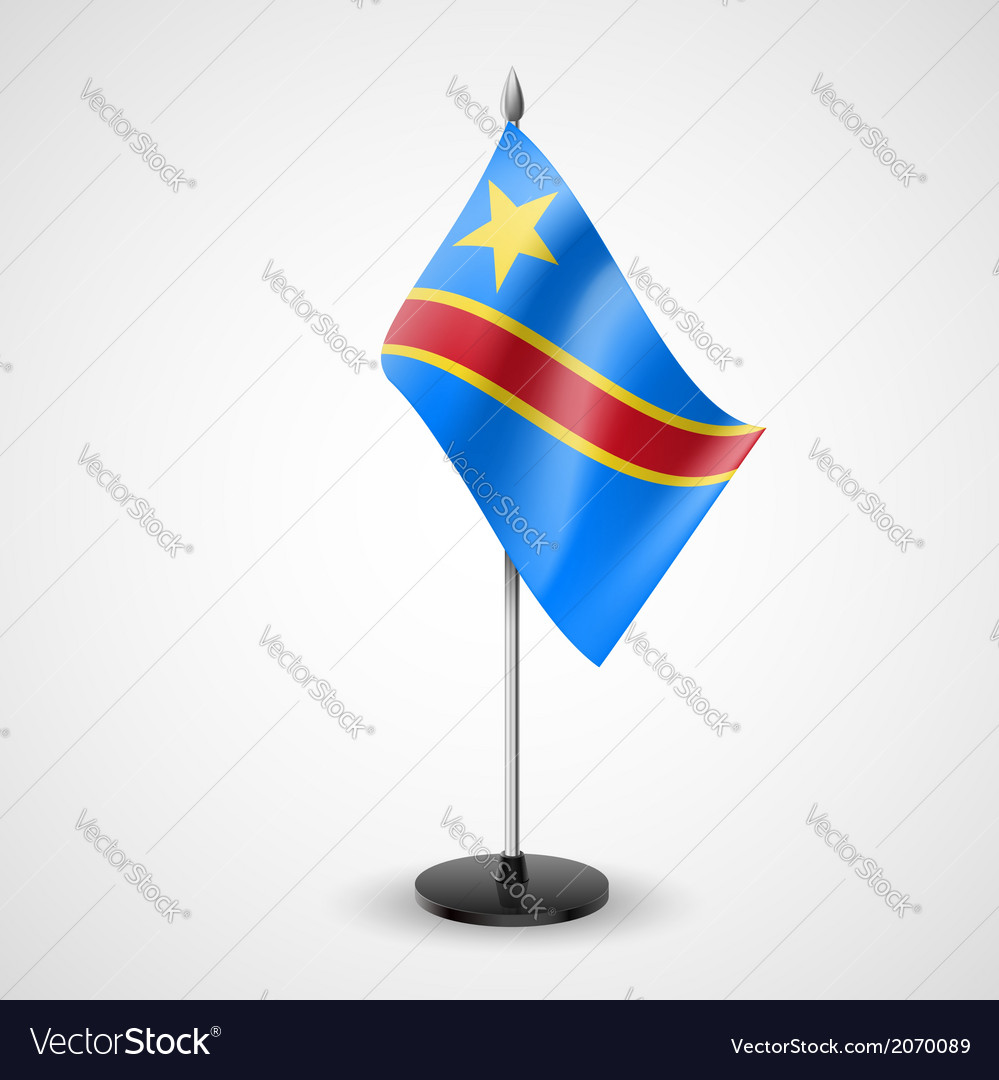 Table flag of democratic republic of the congo vector | Price: 1 Credit (USD $1)