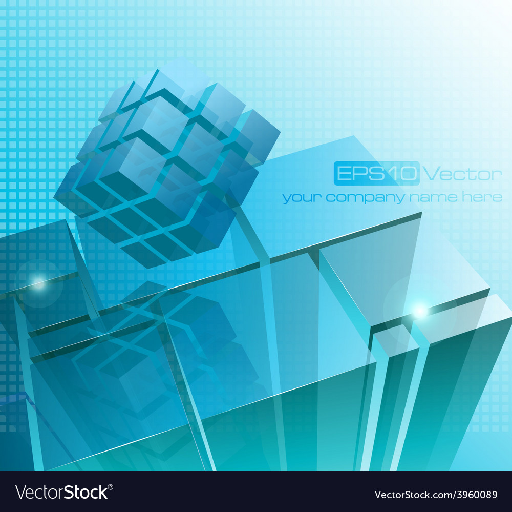 Tech business design composition vector | Price: 3 Credit (USD $3)