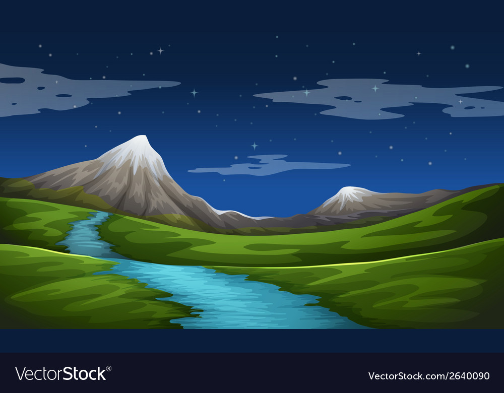 A beautiful scenery vector | Price: 3 Credit (USD $3)