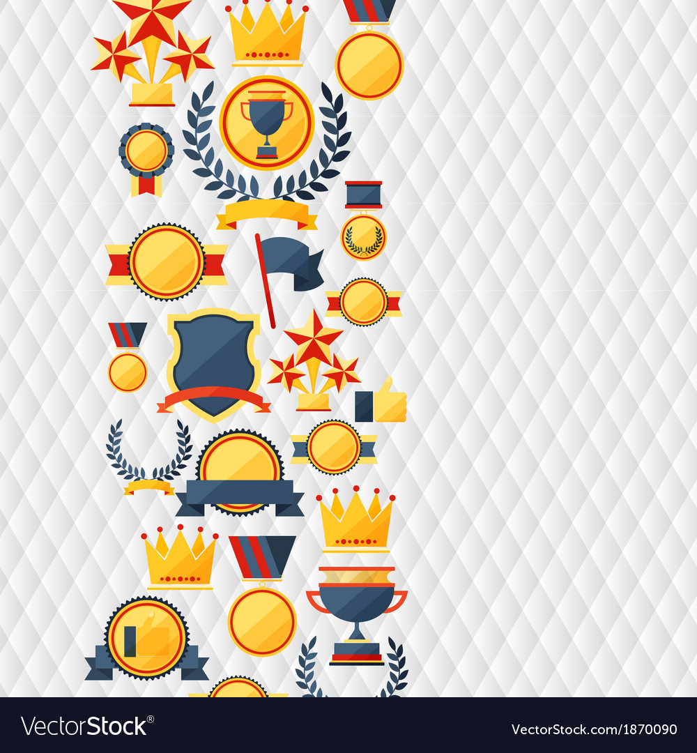 Awards and trophies icons background vector | Price: 1 Credit (USD $1)
