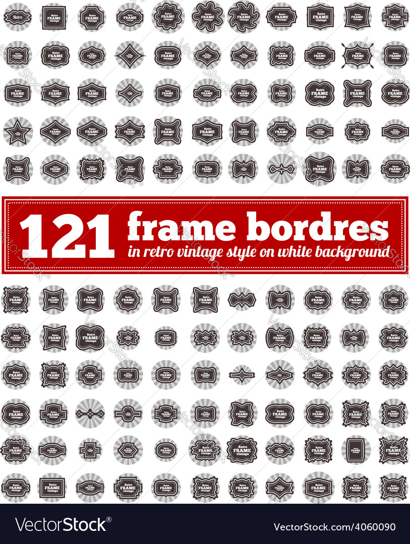 Border frame set vector | Price: 1 Credit (USD $1)