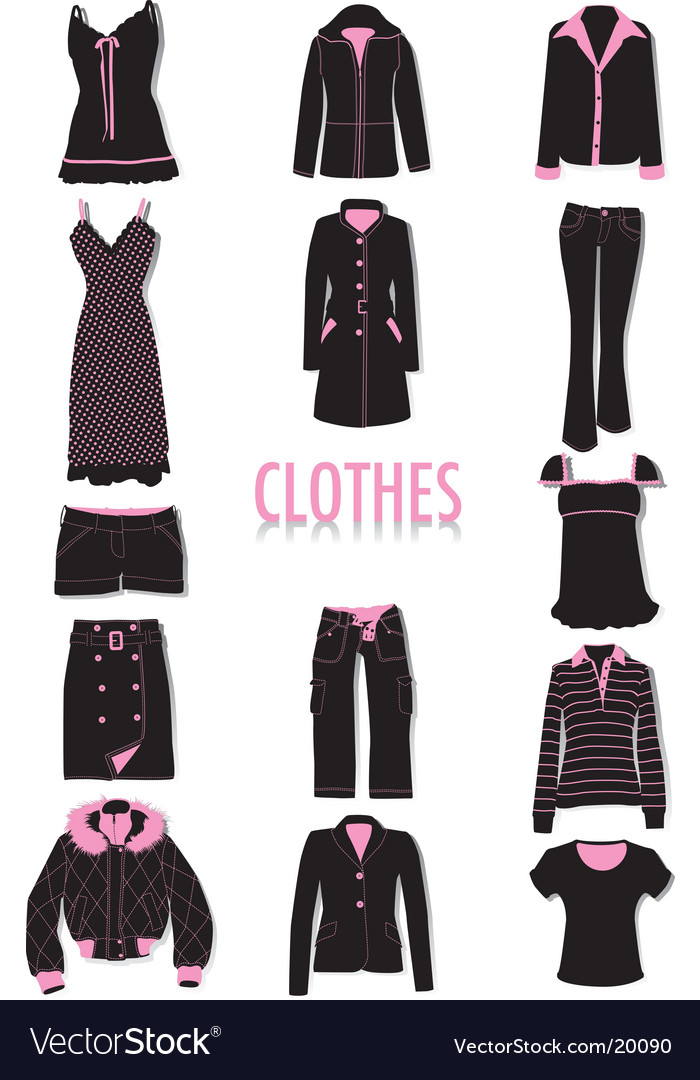 Clothes silhouettes vector   Price: 3 Credit (USD $3)