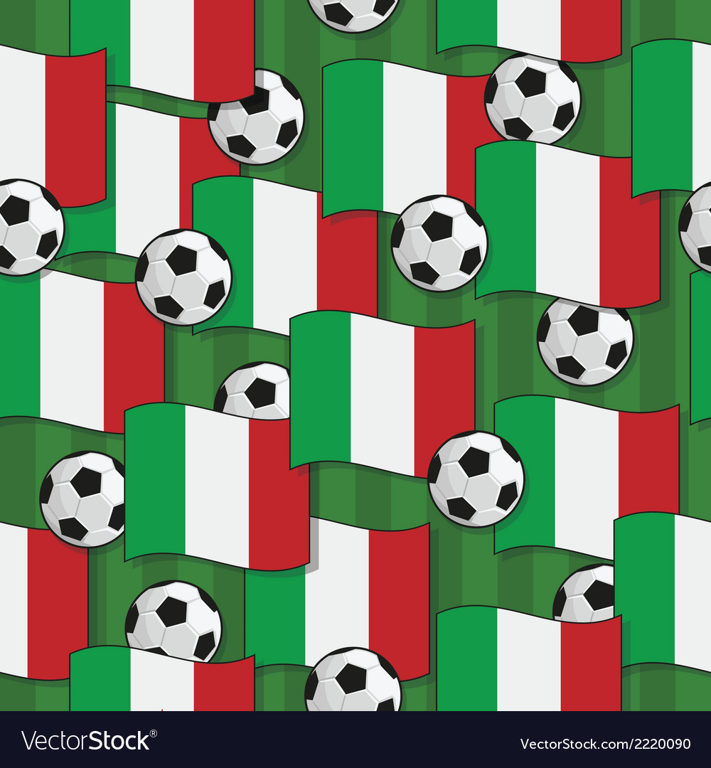 Italy football pattern vector | Price: 1 Credit (USD $1)
