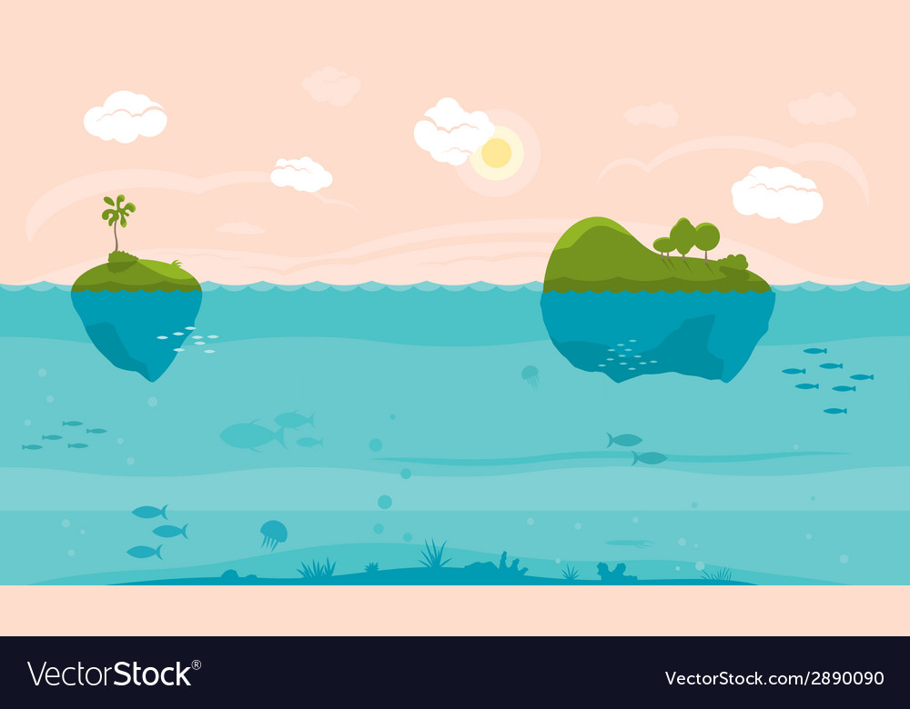 Sea game background vector | Price: 1 Credit (USD $1)