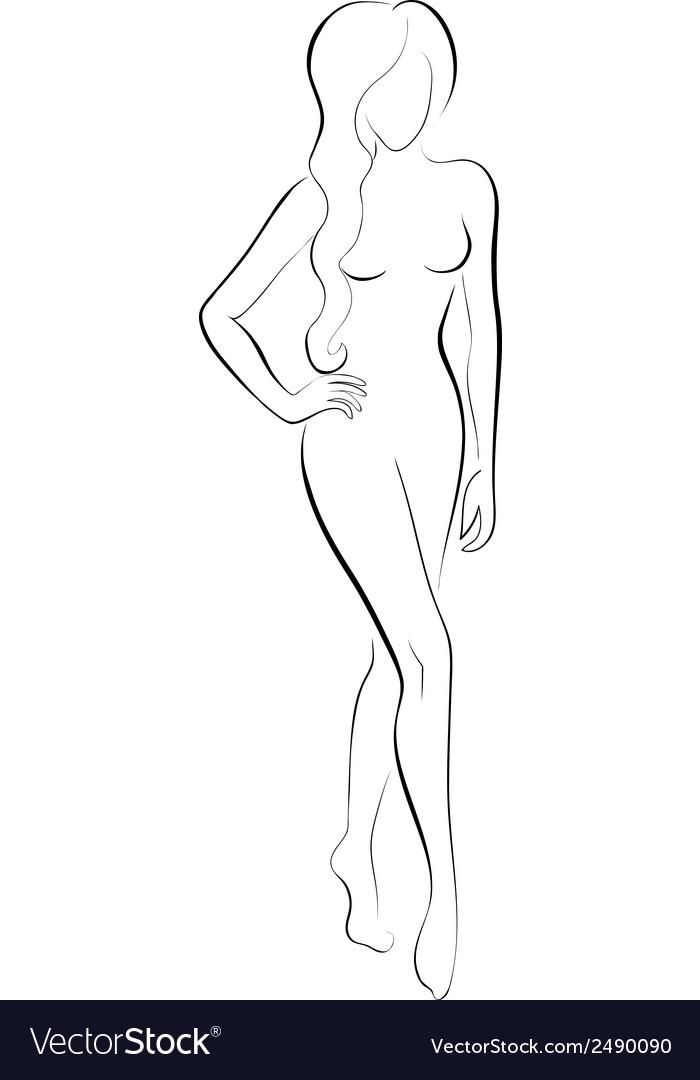 Slim woman vector   Price: 1 Credit (USD $1)