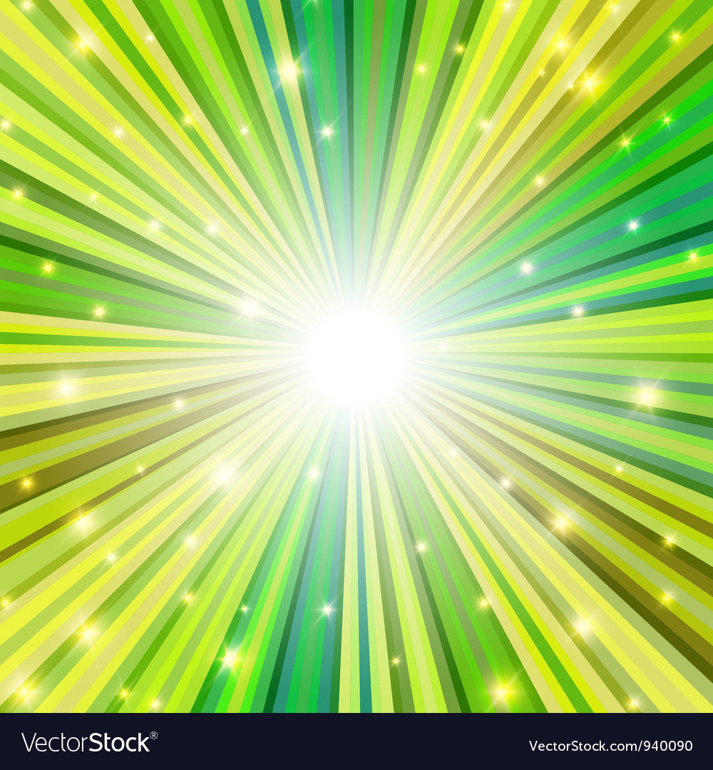 St patrick rays background vector | Price: 1 Credit (USD $1)