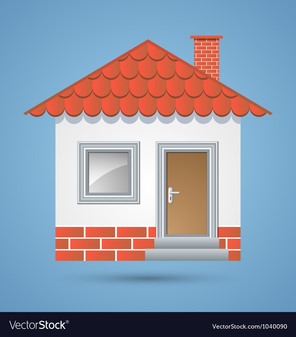 Traditional house icon vector | Price: 1 Credit (USD $1)