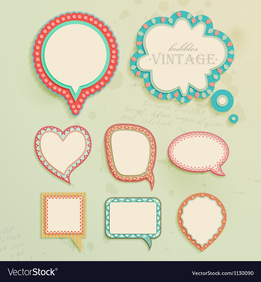 Vintage paper bubbles for speech vector | Price: 1 Credit (USD $1)