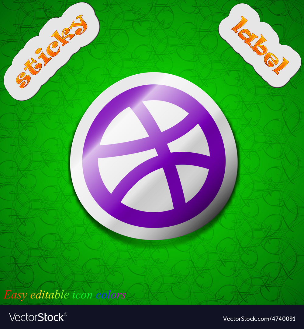 Basketball icon sign symbol chic colored sticky vector   Price: 1 Credit (USD $1)