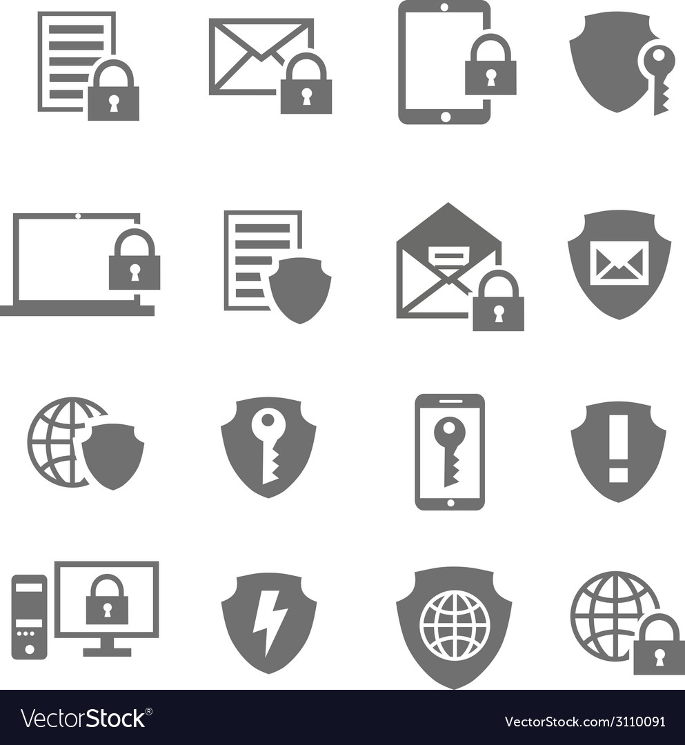 Business data protection technology and cloud vector | Price: 1 Credit (USD $1)