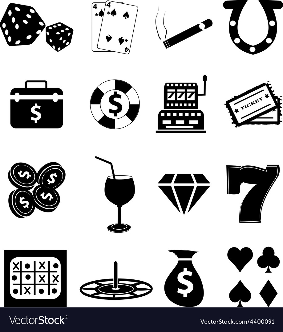 Casino gambling icons set vector | Price: 3 Credit (USD $3)