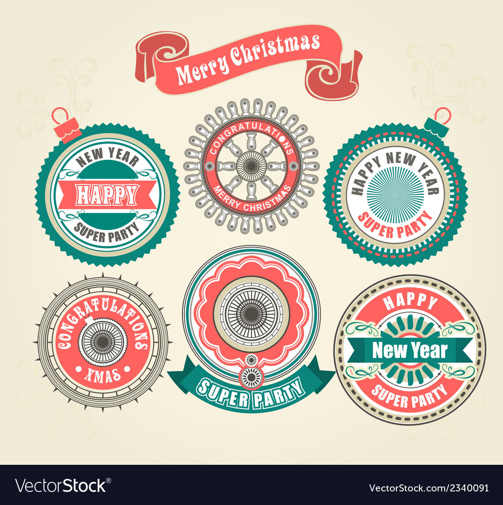Ccalligraphic design elements of merry christmas vector | Price: 1 Credit (USD $1)
