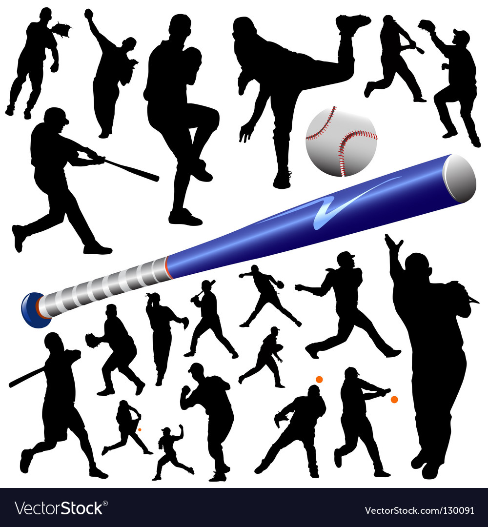 Collection of baseball vector | Price: 1 Credit (USD $1)