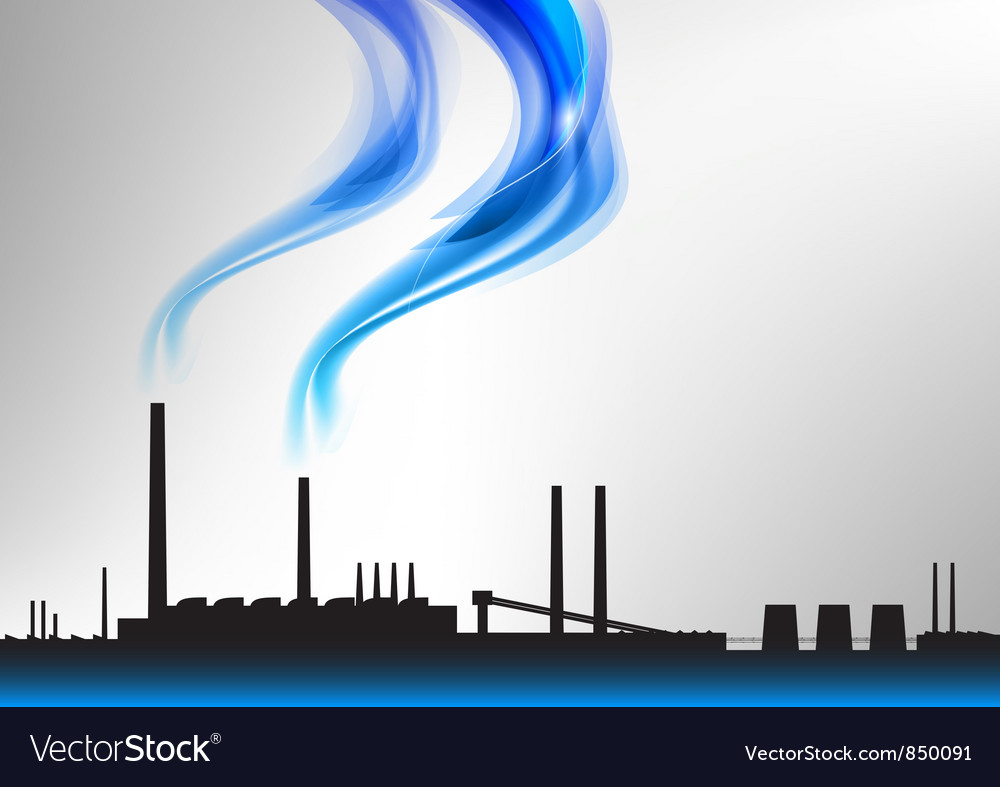 Factory white curve blue vector | Price: 1 Credit (USD $1)
